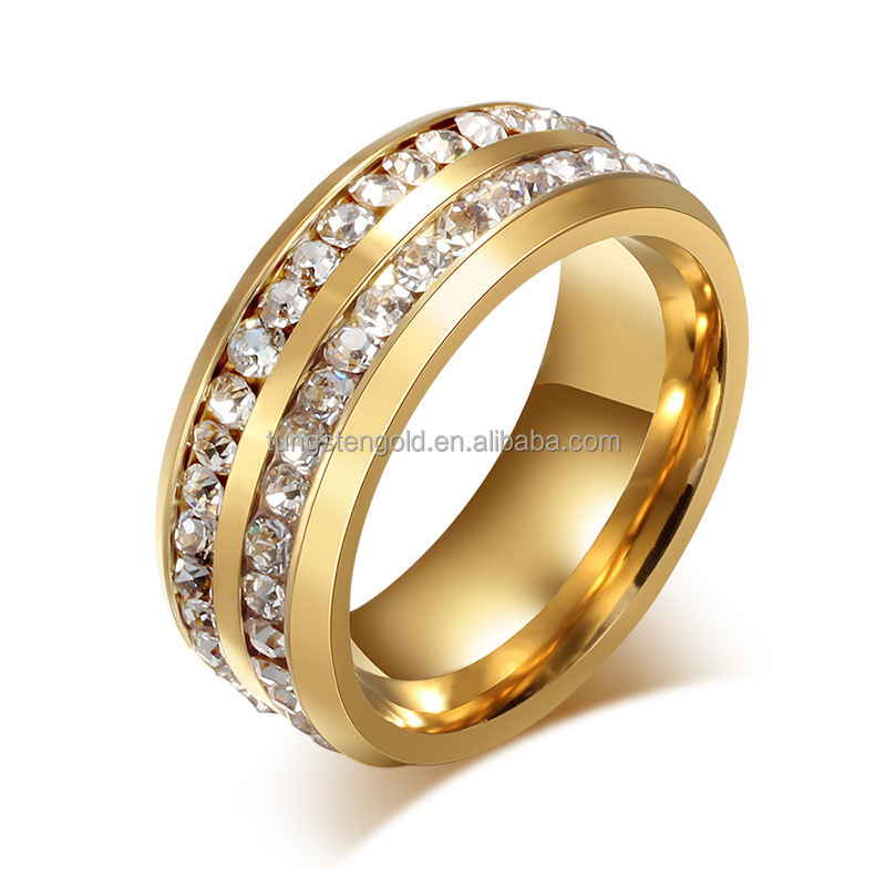 Fancy Gold Top Latest Design Ladies Rings Cz Ring For Women - Buy ...