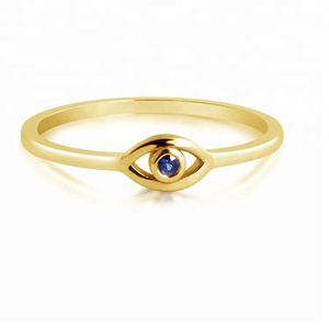 Evil eyes shape finger gold plated jewelry zirconia 925 silver latest gold ring designs for girls