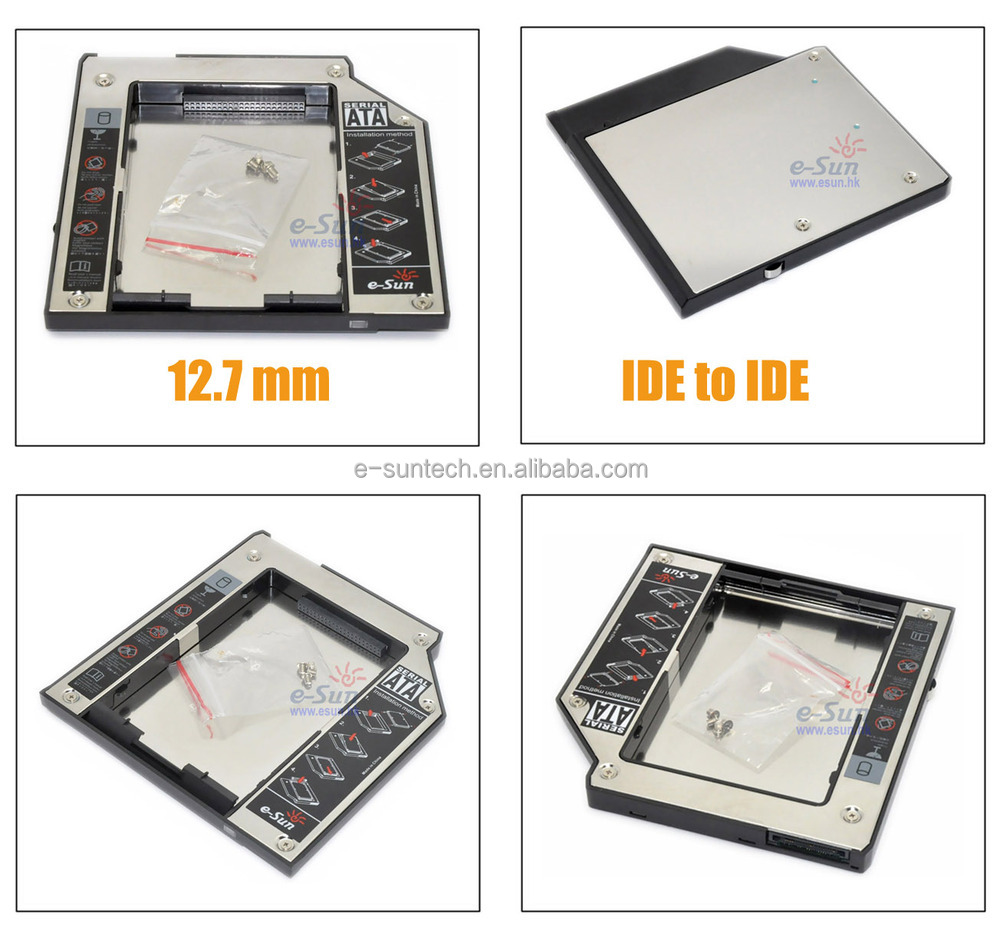 Factory OEM 9.5mm IDE to IDE Second HDD Caddy for hard disk drive