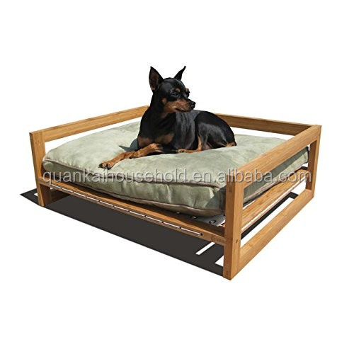 Natural Bamboo Pet Lounge Studios Lounger Dog Bed