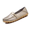 Summer season casual loafers flats for walking ladies leather flat shoes women