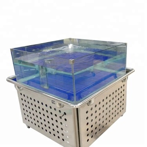 Dingfeng customized supermarket or restaurant SS chiller live lobster tank aquarium