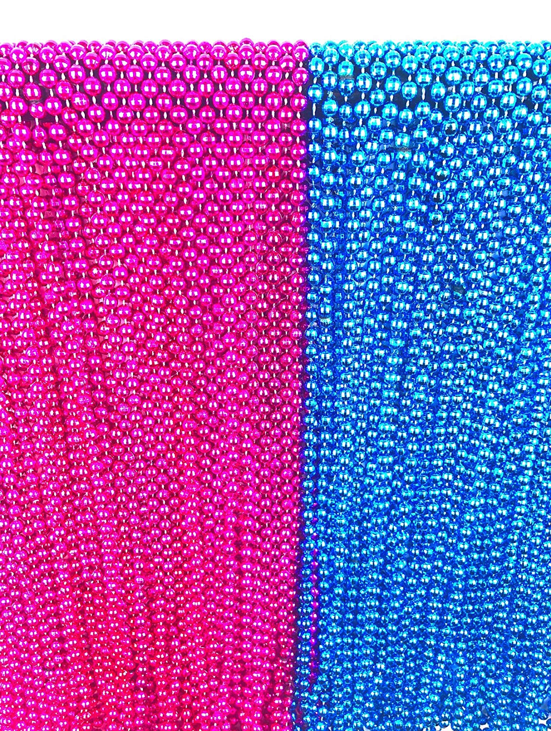 24 Large Gender Reveal Pink and Blue Beads for Baby Shower Announcement Party 33 inch with Bonus Baby Gift Game