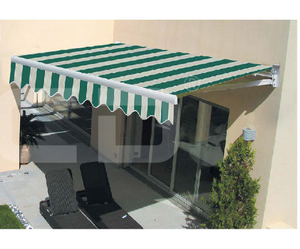 Waterproof Acrylic or Polyester Fabric Aluminum Frame Motorized Garden Awning