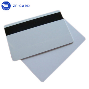 blank bank card with magnetic strip