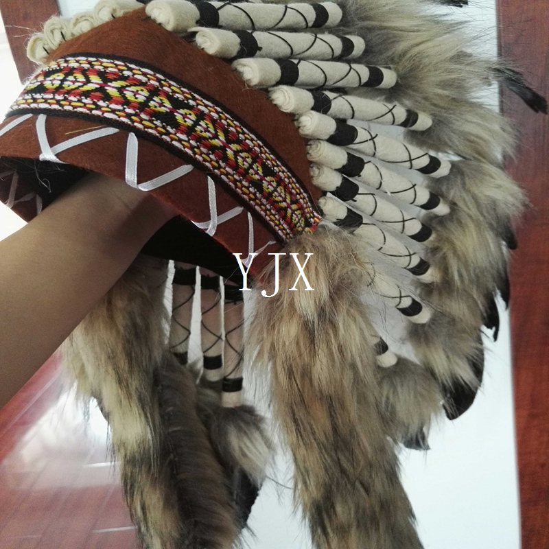 wholesale cheap indian native headdress feather headdress for carnival costume