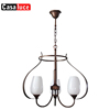 New product E14 antique hotel lobby iron chandelier pendant light with 2 years warranty