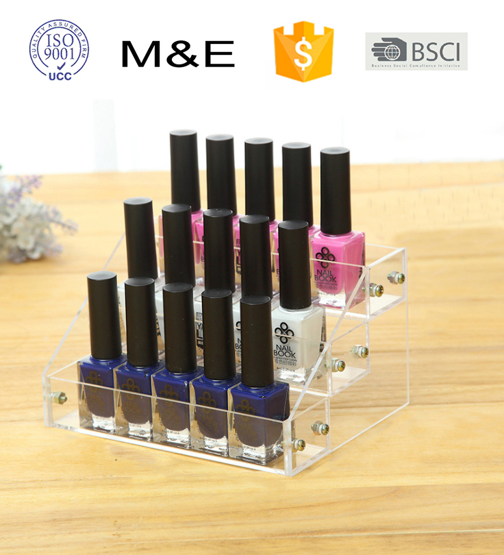 3 Layers Riser Acrylic Display Stand for Opi Nail Polish