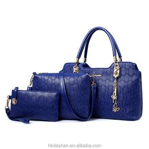 91fc2d91a9b9 2016 High Quality Whole PU Bone Grain Set Bags Wholesale Fashion Designer  Women Genuine Leather Ladies