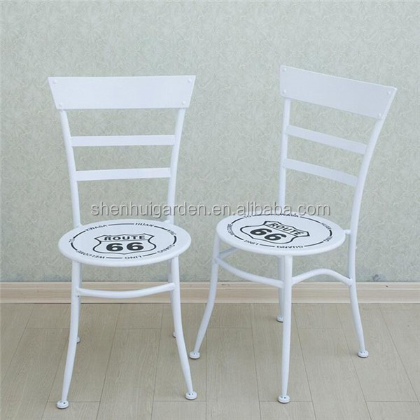 White Patio Garden Set Antique Metal Outdoor Furniture