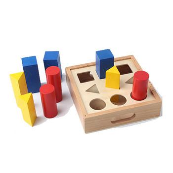 Nursery School Early Childhood Education Sensory Toys Autism Geometry Pillar Teaching Aids