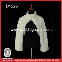 D1225 Ivory Fur Shawl for Wedding bridal
