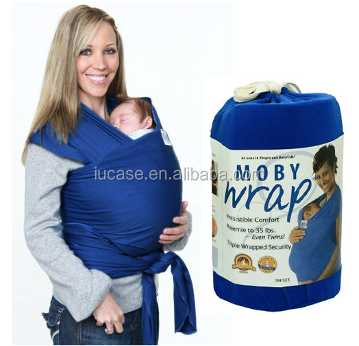 4-in-1 Stretchy Soft Comfortable Cotton Baby Sling Wrap for Newborns, Child, Infant