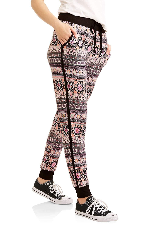 403843df401b1 Get Quotations · No Boundaries Juniors Elephant Jogger Style Leggings Loung  Pants