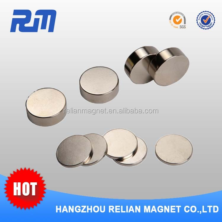 Free sample china manufacture ni coated round rare earth magnet