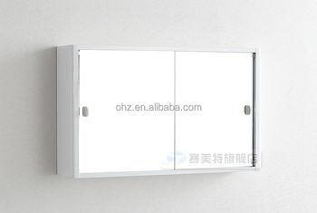 sliding bathroom mirror cabinet