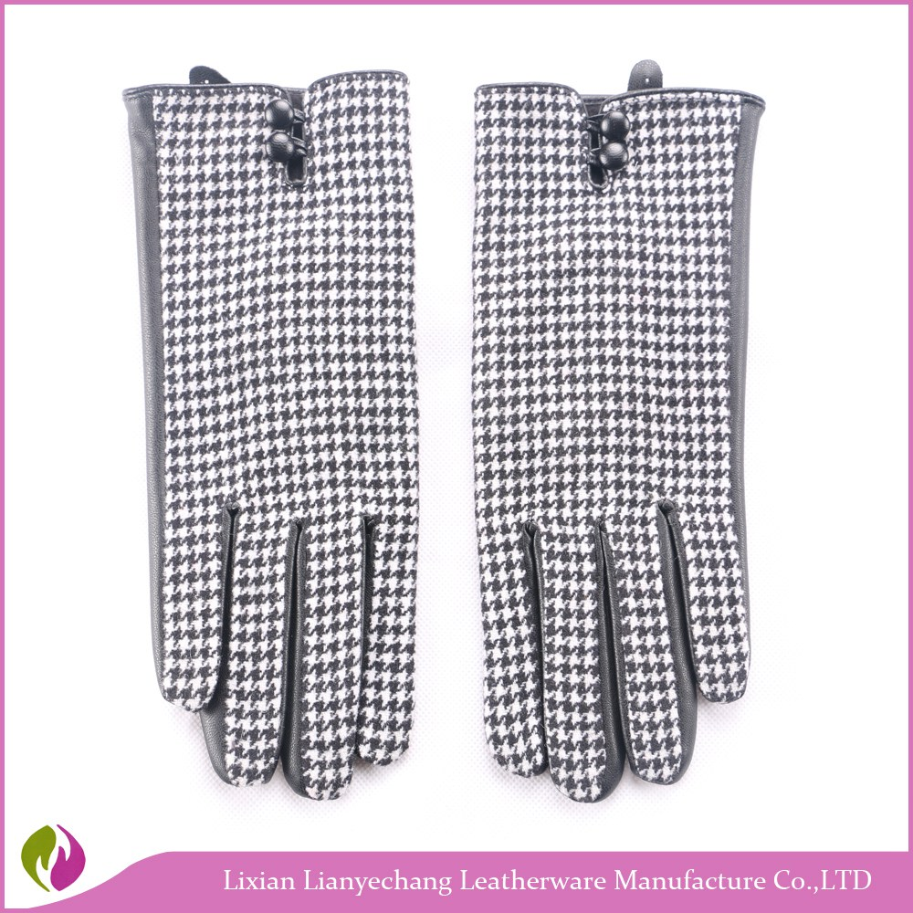 Women's Pu Leather Gloves Wrist Gloves Ladies Winter Glove