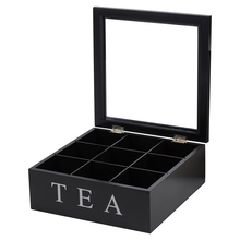 Handmade wooden tea bags box packing storage box for sale