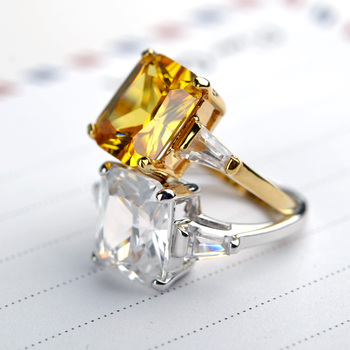 Wholesale Promotional Diamond Ocean Inspired Engagement Ring 24k
