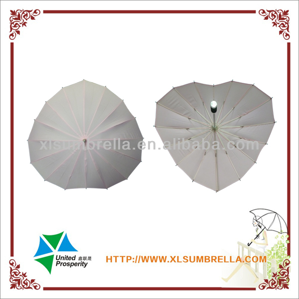 Pink love heart shape umbrella from china supplier
