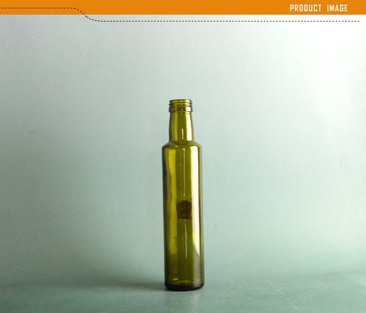 China Suppliers Dark Green Glass Olive Oil Bottle