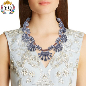 NLX-00191wholesale indonesia silver jewelry nepal necklace vintage with velvet manufacturers