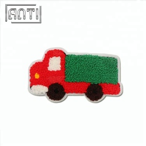 Cartoon car shaped embroidery patches for clothes