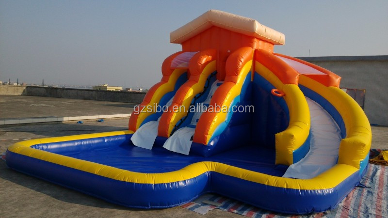 GMIF Insteresting Huge Inflatable Water Slide for Summer Game