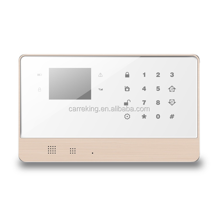 2.8'' big LED display touch screen GSM+ PSTN smart home burglar focus alarm system