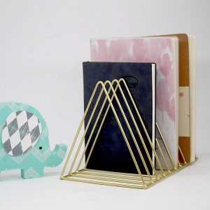 Simple Custom Triangle Design Multi-function Metal Book Stand holder Bookends