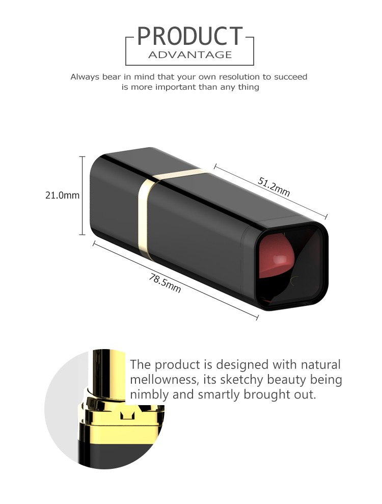 Wholesale china make your own fancy square custom ABS empty lipstick