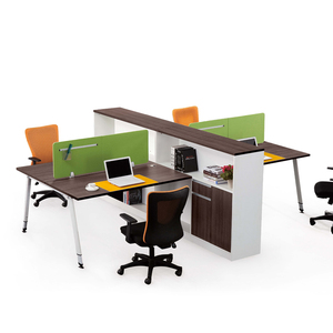 Wooden furniture designs PVC office workstation modular for 4 people