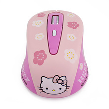 Wholesale Dropship New Hello Kitty Optical 1600dpi USB Wireless Mouse For Laptop PC