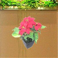 2016 wholesale artificial poinsettia plant,silk poinsettia flower