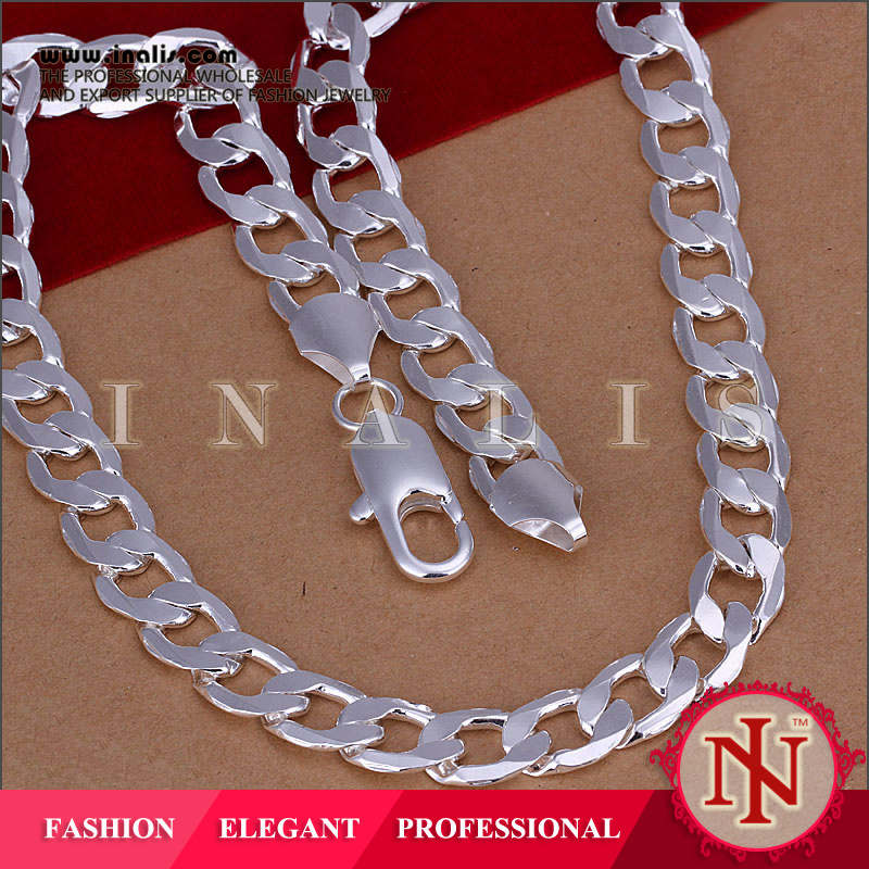 2014 wholesale silver figaro chain necklace N005