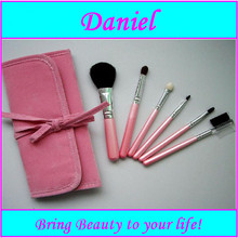 Sweaty Pink color 6 pcs cosmestic brush set with top professional customized makeup brush