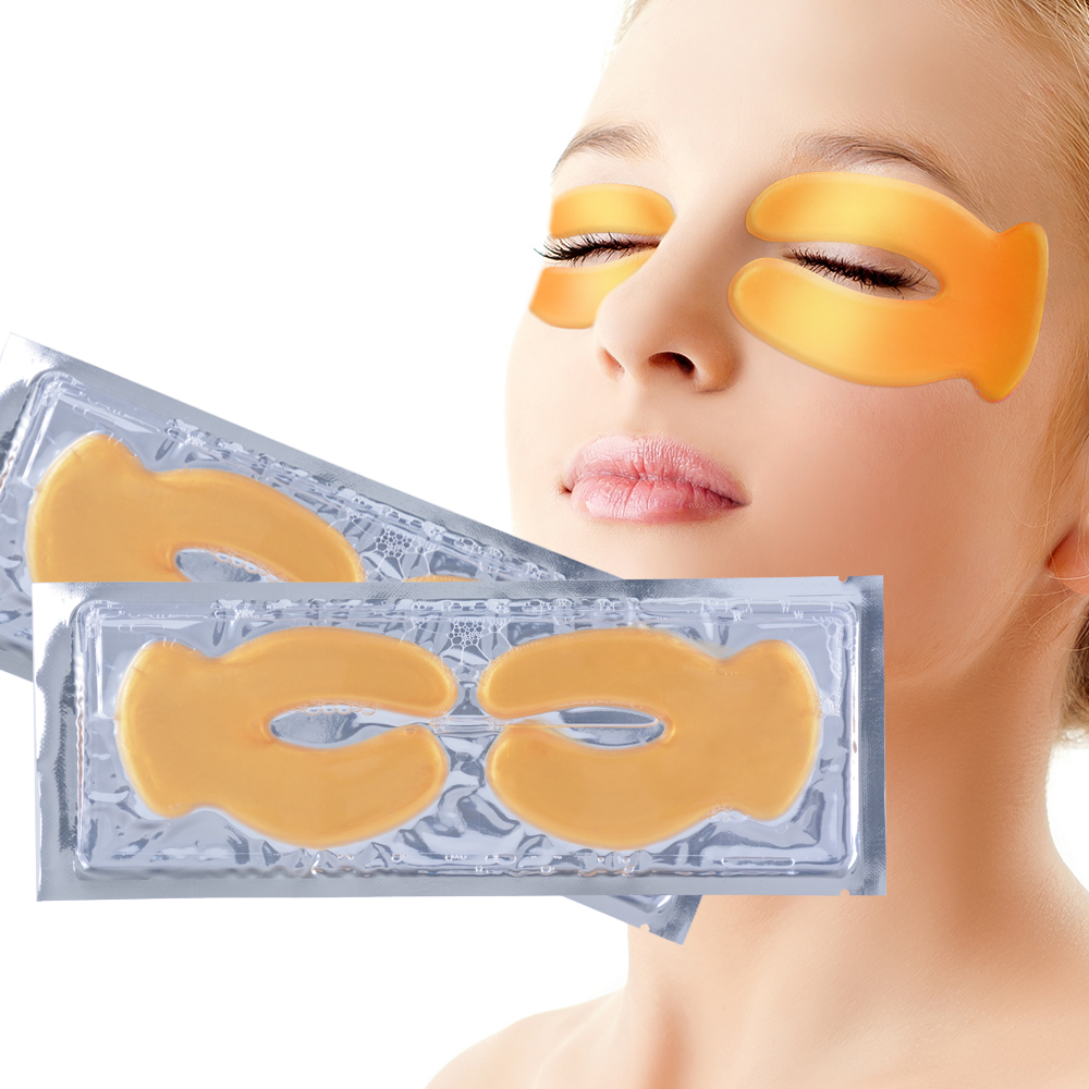 OEM Skin Care Cosmetics Small Quantity Custom Gold Eye Collagen Eye Mask