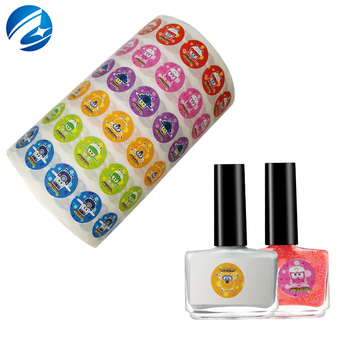 Self Adhesive Custom Nail Polish Bottle Private Vinyl Sticker Labels Printing