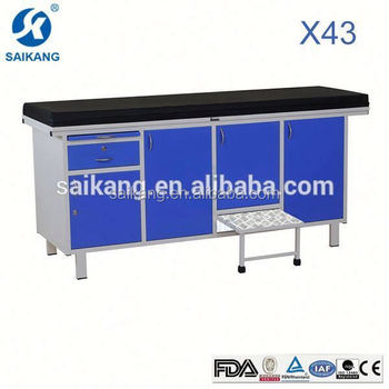 X43 High Quality Medical Office Exam Tables With Step Stool Sheets