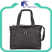Wholesale blank black canvas shoulder messenger bag