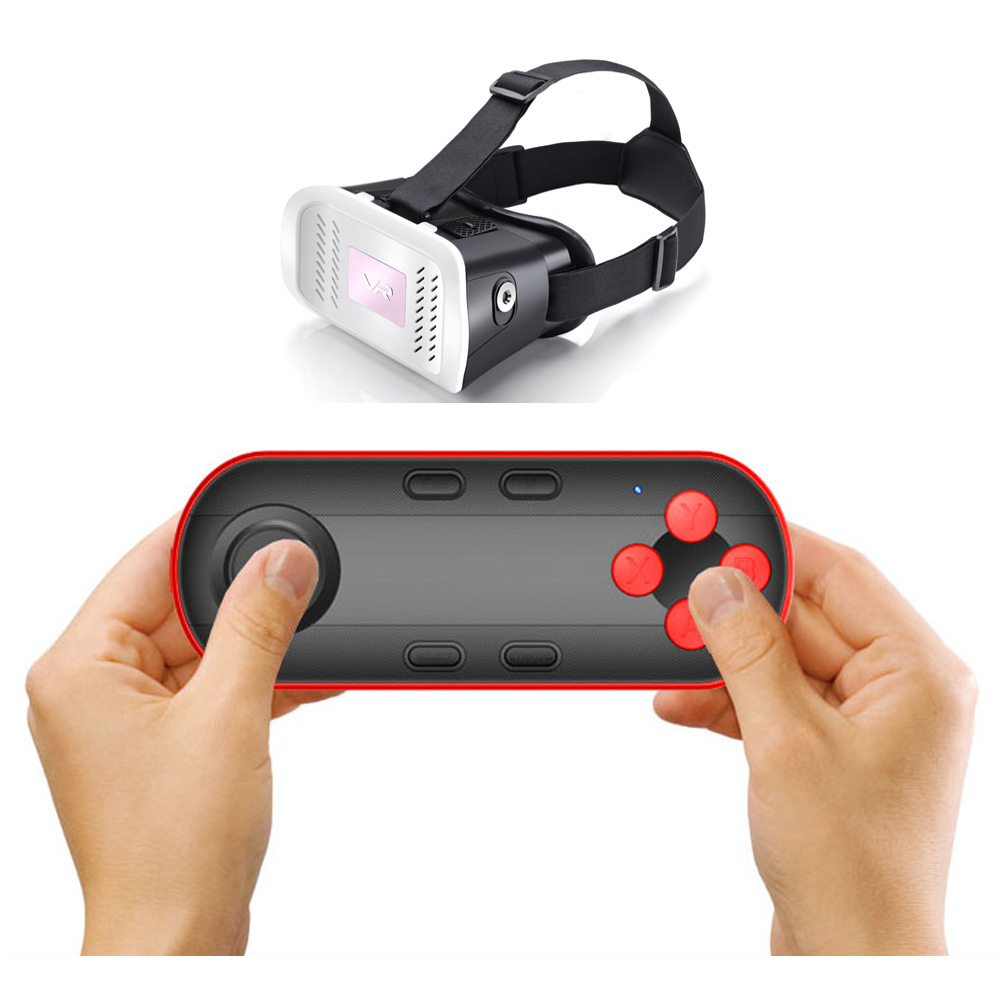 5224a91db44 VR BOX 3D Glass Bluetooth Remote Control Wireless Selfie Shutter Game  Console Gamepad Controller for IOS