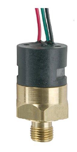 "Gems PS41-30-4MNB-C-FL18 Series PS41 Economical Miniature Pressure Switch, SPDT Circuit, 25-100 psi Range, 1/4"" MNPT Brass Fitting, SPDT Circuit, 18"" Flying Leads"