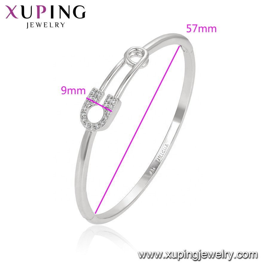52270 Xuping best birthday gift fashion jewelry bangle simple design stone copper