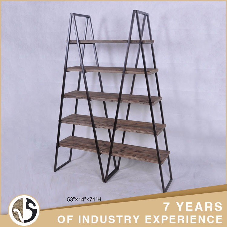 rustic home decorate furniture natural wooden ladder shelf