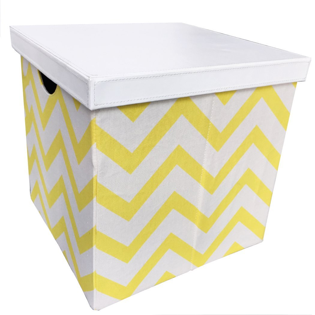 Vox Furniture Square Fabric Clothing Storage Bins Decorative Foldable Storage Cubes Storage Boxes Baskets SpaceSaving and Light Weight for Travel, medium