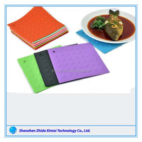 Non Slip FDA Silicone Customized Tableware Coaster,Table Mat