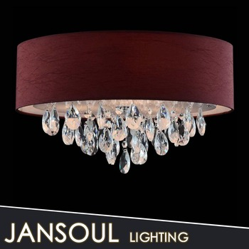 Redwhiteblack fabric flush mounted ceiling light low ceiling red white black fabric flush mounted ceiling light low ceiling chandelier crystal ceiling lighting aloadofball Image collections
