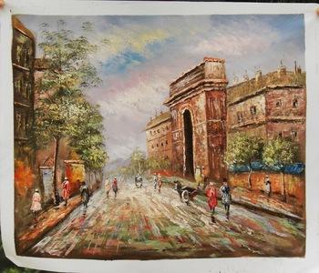 canvas paintings for sale. Factory Direct Wholesale Painting Impressionist Paris Street Art Canvas Oil Paintings For Sale A