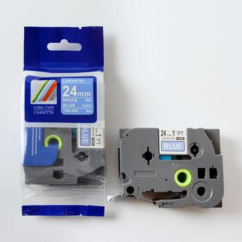 Top Quality 24mm Laminated Label Tape TZe 551 TZ-551 Black on Blue Cassette Ribbon Compatible P-touch Printer