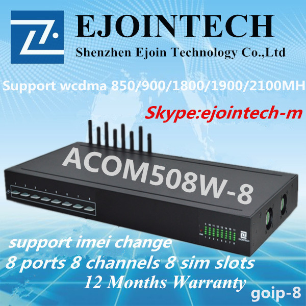 PBX , voip gateway, call back, call center 2016 New Arrival ACOM508W-8, free on line support device